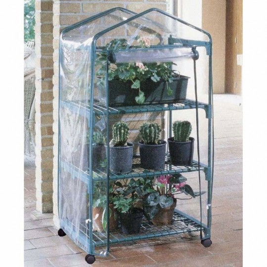 Azalea Greenhouse 3 Wheeled Shelves