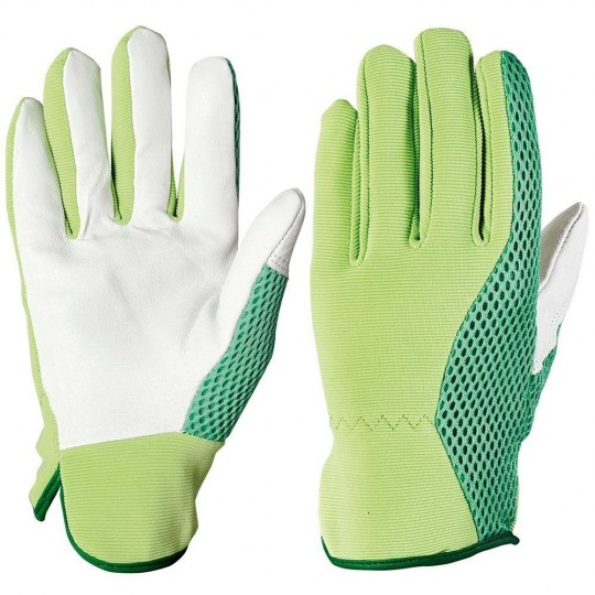 Leather Glove and Elastic Cotton