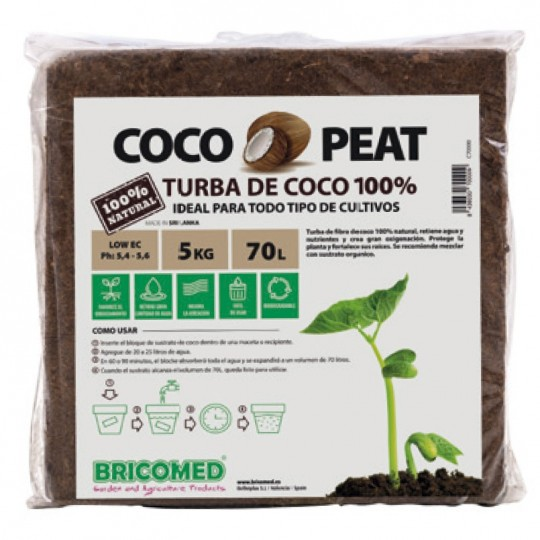 "Turba de Coco ""Cocopeat Block"""
